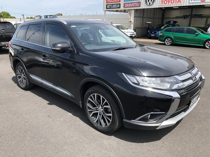 2017 Mitsubishi Outlander LS Safety Pack ZK MY18 4X4 On Demand Black