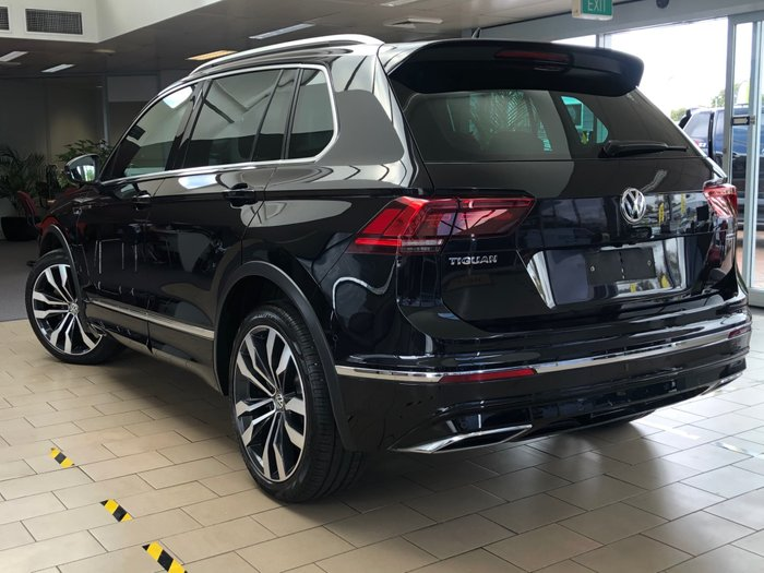 2018 Volkswagen Tiguan 162TSI Highline 5N MY19 Four Wheel Drive Black