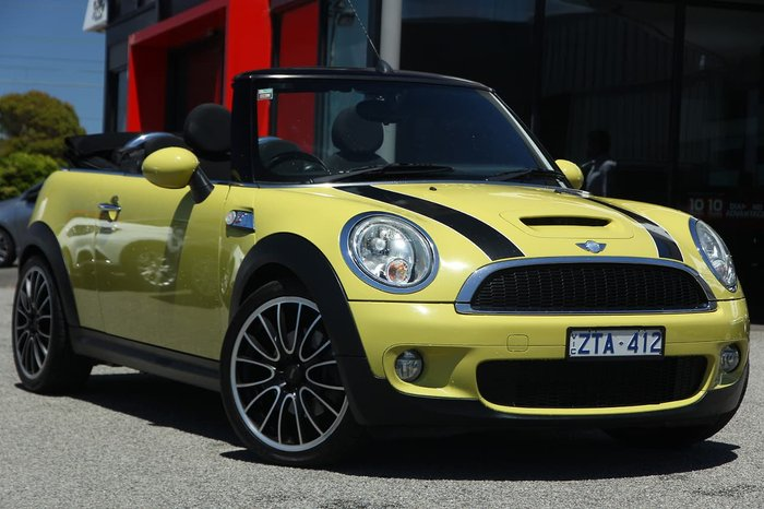 2010 MINI Cabrio Cooper S R57 MY09 Yellow