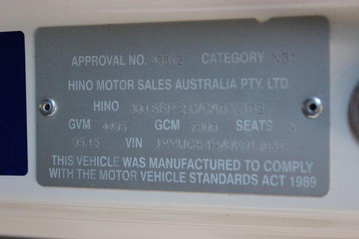 2015 HINO 616 AUTO PANTECH WHITE