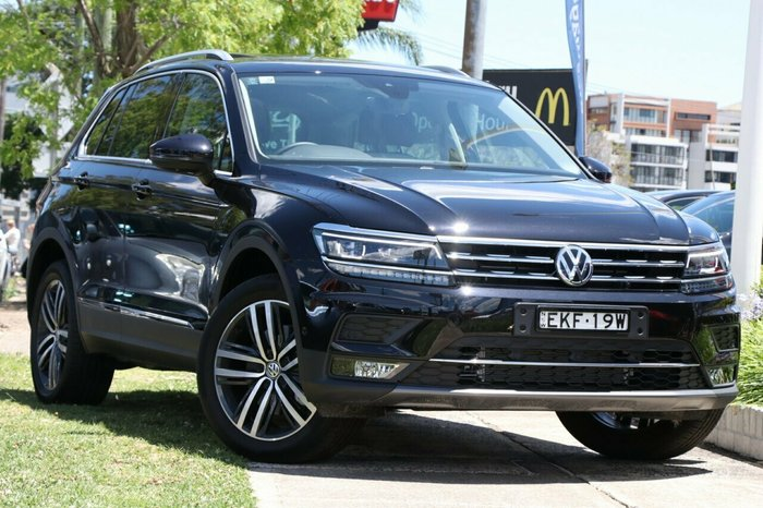 2020 Volkswagen Tiguan 162TSI Highline 7Spd DSG Wagon MY20 4WD Deep Black Pearl Effect