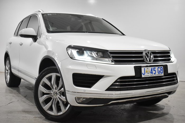 2016 Volkswagen Touareg V6 TDI 7P MY17 Four Wheel Drive Pure White