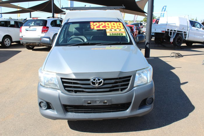 2013 Toyota Hilux Workmate TGN16R MY12 Sterling Silver