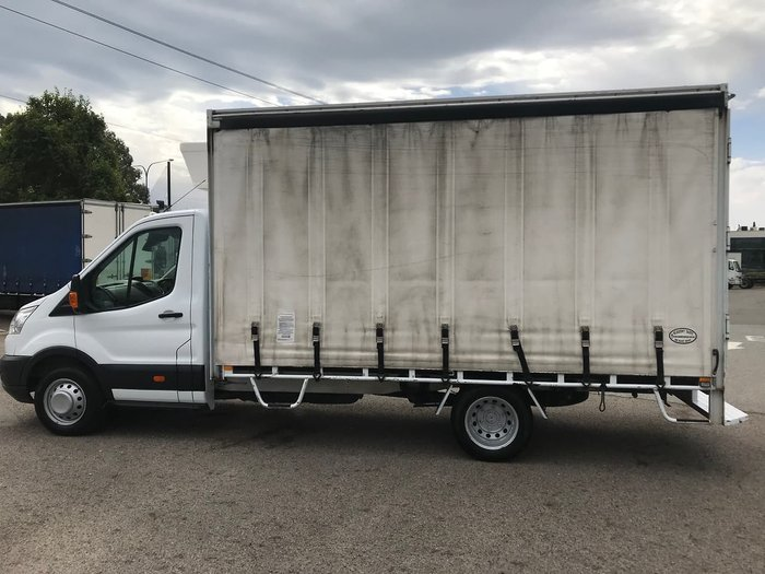 2014 FORD TRANSIT CAB CHASSIS White