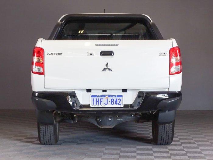 2018 Mitsubishi Triton GLS MQ MY18 4X4 Dual Range White