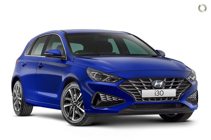 2020 Hyundai i30 Elite PD.V4 MY21 Intense Blue