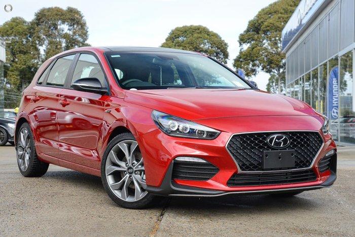 2020 Hyundai i30 N Line Premium PD.V4 MY21 Fiery Red