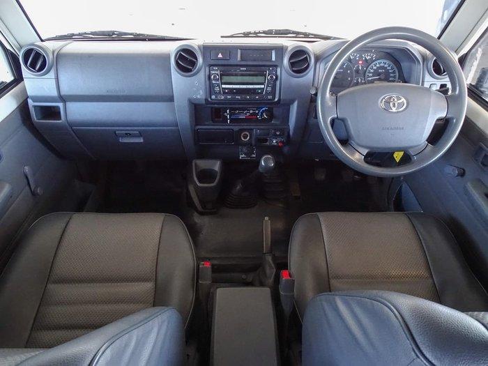 2011 Toyota Landcruiser Workmate VDJ76R MY10 4X4 Dual Range White