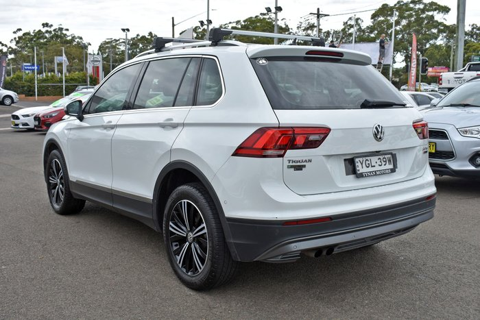 2017 Volkswagen Tiguan 132TSI Adventure 5N MY18 Four Wheel Drive Pure White