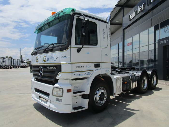 2007 MERCEDES-BENZ ACTROS 2644 DAY CAB WHITE