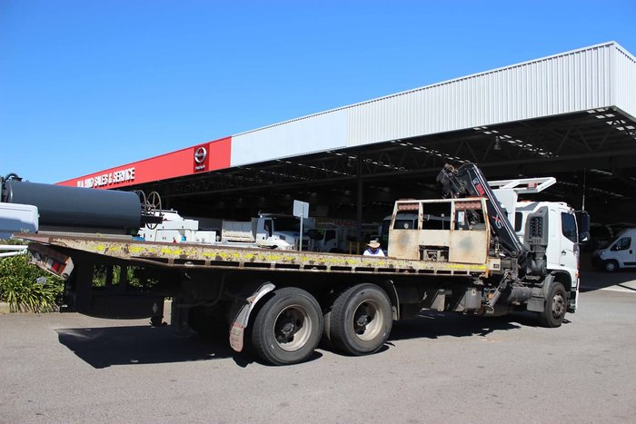 2012 HINO FM 2632 TILT SLIDE AND HIAB WHITE