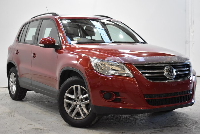 2010 Volkswagen Tiguan 125TSI 5N MY10 Four Wheel Drive Wild Cherry Red