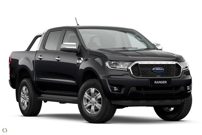 2020 Ford Ranger XLT PX MkIII MY21.25 4X4 Dual Range Black