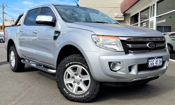 2014 Ford Ranger XLT PX 4X4 Dual Range Highlight Silver