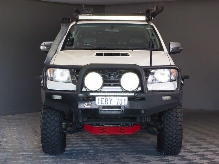 2014 Toyota Hilux Black Limited Edition KUN26R MY14 4X4 Dual Range White