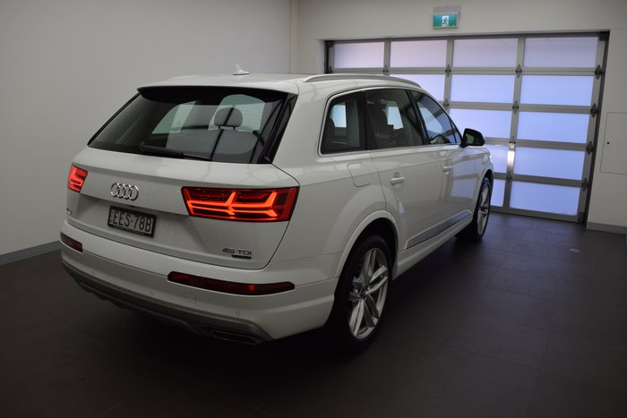 2018 Audi Q7 45 TDI 4M MY19 Four Wheel Drive Carrara White