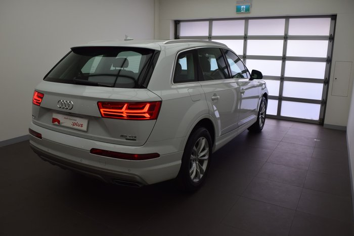 2018 Audi Q7 45 TDI 4M MY19 Four Wheel Drive Glacier White