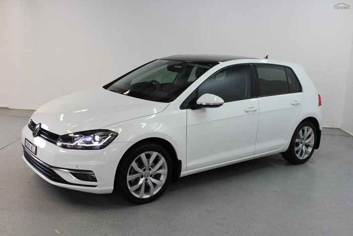 2018 Volkswagen Golf 110TDI Highline 7.5 MY18 Pure White