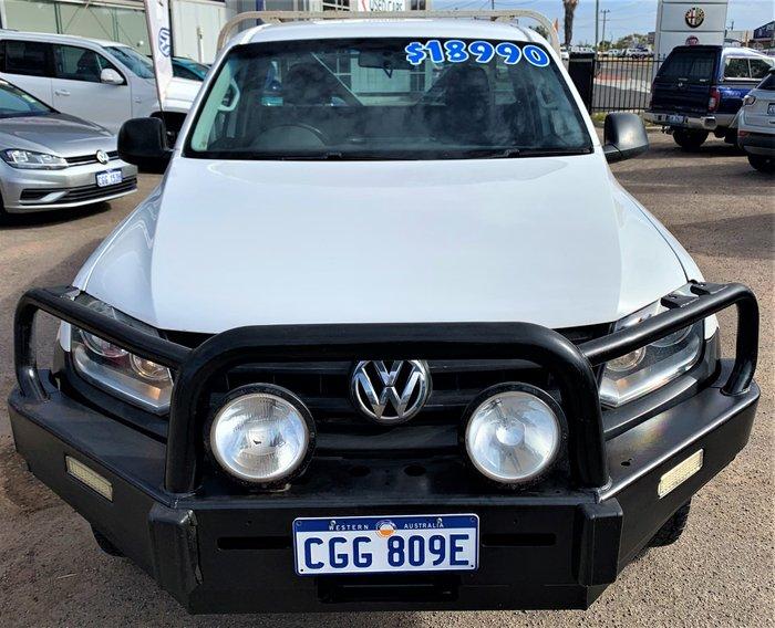 2013 Volkswagen Amarok TDI400 2H MY14 4X4 Dual Range Candy White