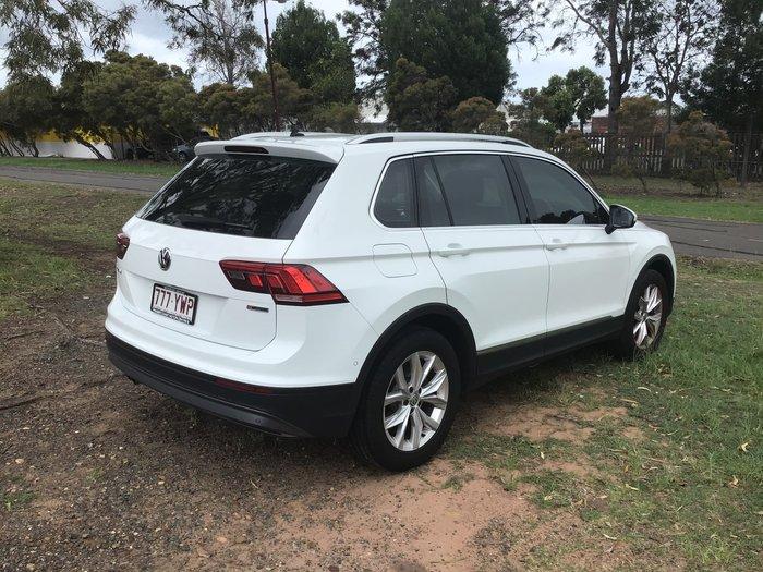 2018 Volkswagen Tiguan 132TSI Comfortline 5N MY19 Four Wheel Drive Pure White
