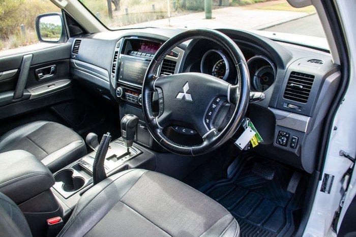 2016 Mitsubishi Pajero GLS NX MY16 4X4 Dual Range White