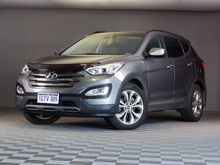 2013 Hyundai Santa Fe Highlander DM MY13 4X4 On Demand Grey