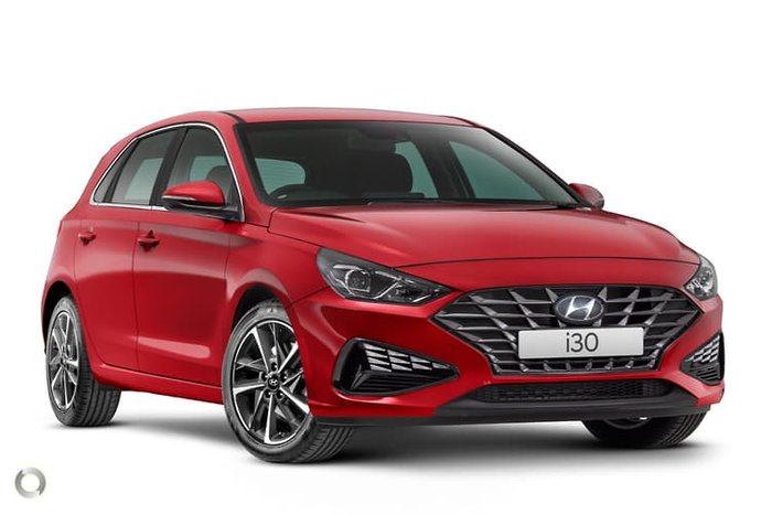 2020 Hyundai i30 Active PD.V4 MY21 Fiery Red