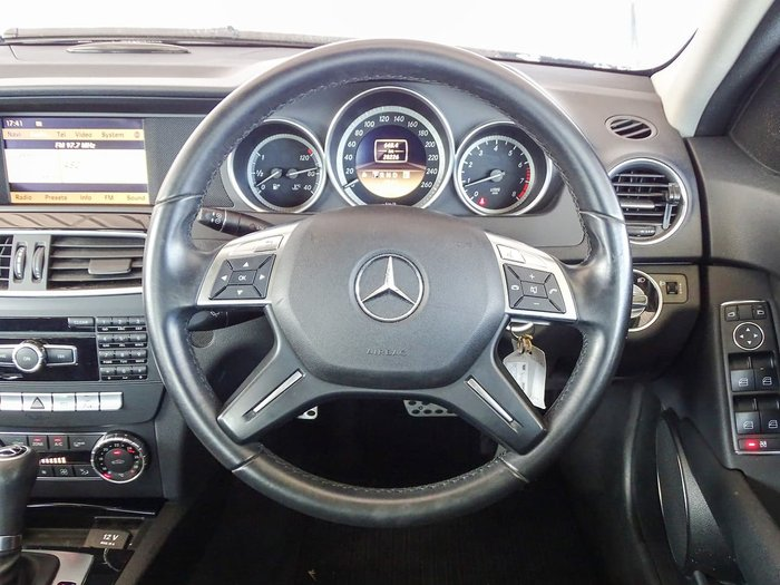 2012 Mercedes-Benz C-Class C200 BlueEFFICIENCY W204 MY12 Black