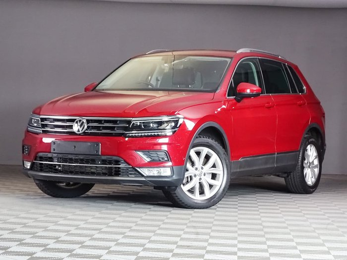 2017 Volkswagen Tiguan 162TSI Highline 5N MY17 Four Wheel Drive Red