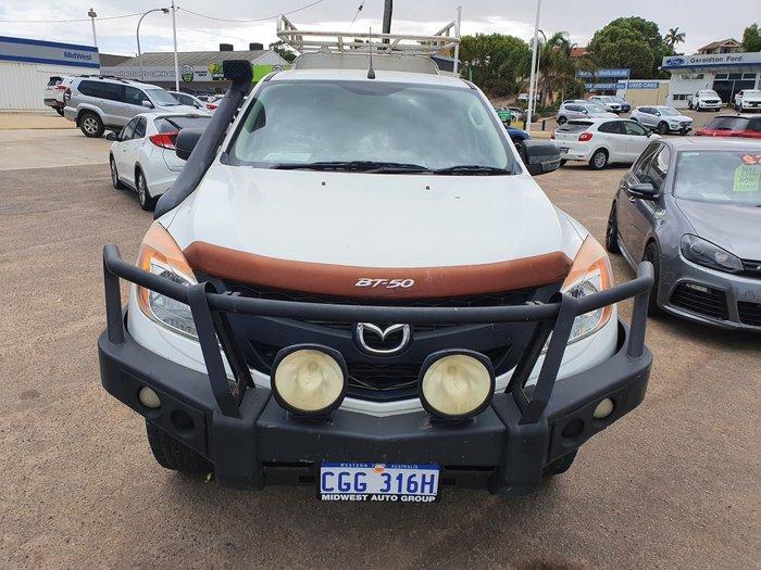 2012 Mazda BT-50 XT UP 4X4 Dual Range Cool White