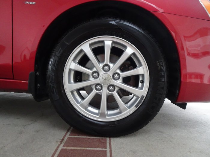 2011 Mitsubishi Lancer SX CJ MY11 Red