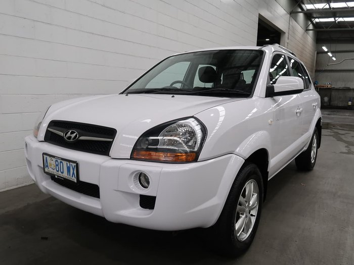 2009 Hyundai Tucson City SX JM MY09 White
