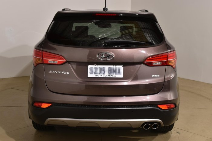 2014 Hyundai Santa Fe Highlander DM MY14 4X4 On Demand Brown