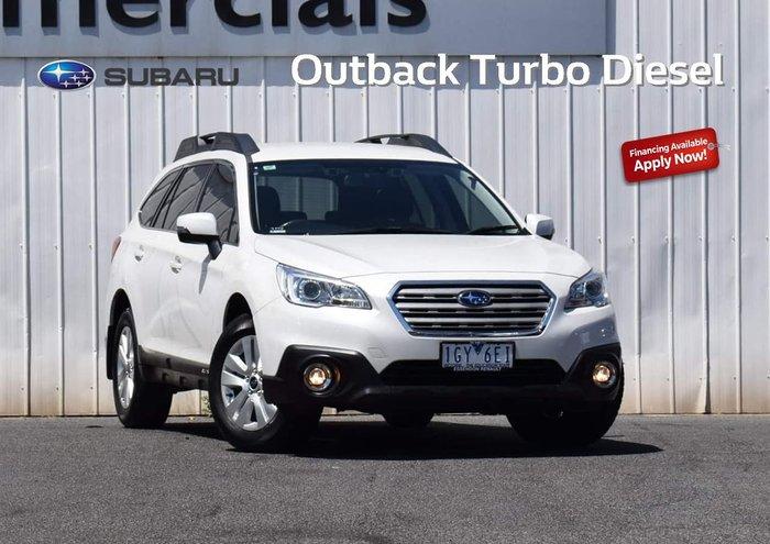 2016 Subaru Outback 2.0D 5GEN MY16 Four Wheel Drive White