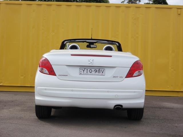 2010 PEUGEOT 207 CC A7 Series II MY10 CC Cabriolet 2dr Spts Auto 4sp 1.6i White