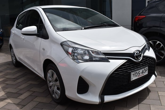 2016 Toyota Yaris Ascent NCP130R Glacier White