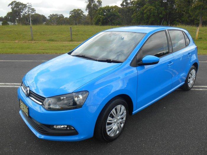 2015 Volkswagen Polo 66TSI Trendline 6R MY15 Cornflower Blue