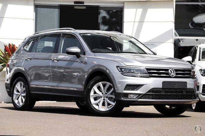 2020 Volkswagen Tiguan 132TSI Comfortline Allspace 5N MY20 Four Wheel Drive Pyrite Silver