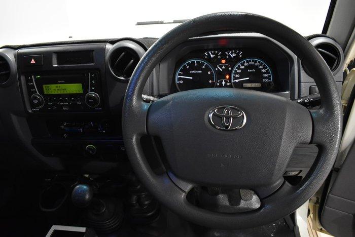 2016 Toyota Landcruiser Workmate VDJ76R 4X4 Dual Range French Vanilla