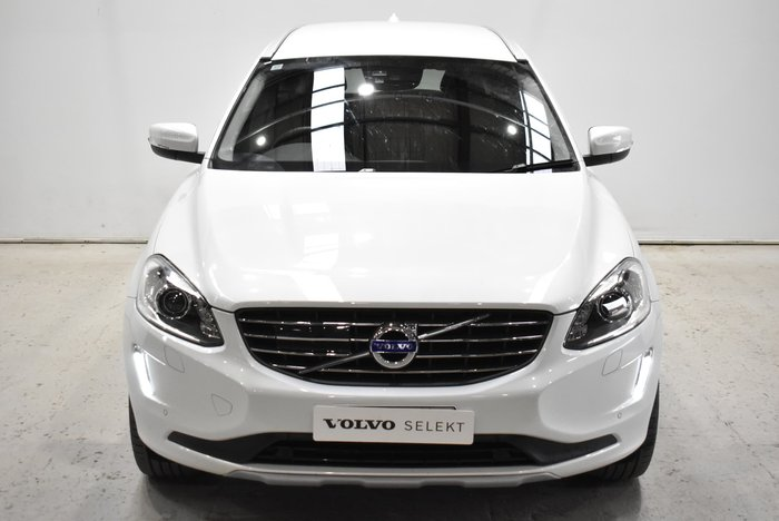 2016 Volvo XC60 D4 Luxury MY17 Four Wheel Drive Crystal White