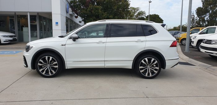 2020 Volkswagen Tiguan 162TSI Highline Allspace 5N MY21 Four Wheel Drive Pure White