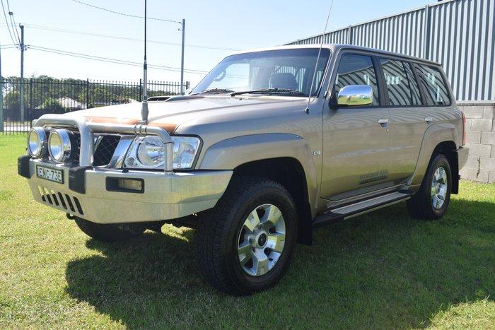 2009 Nissan Patrol ST GU 6 MY08 4X4 Dual Range Desert Gold