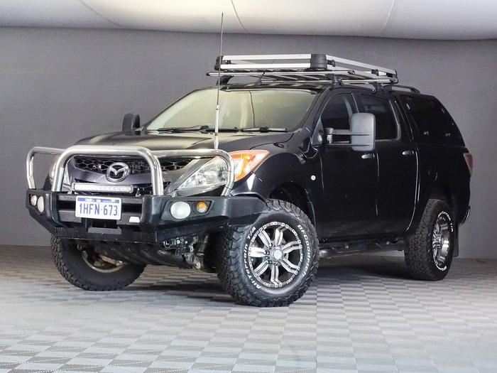 2012 Mazda BT-50 XTR UP 4X4 Dual Range Black
