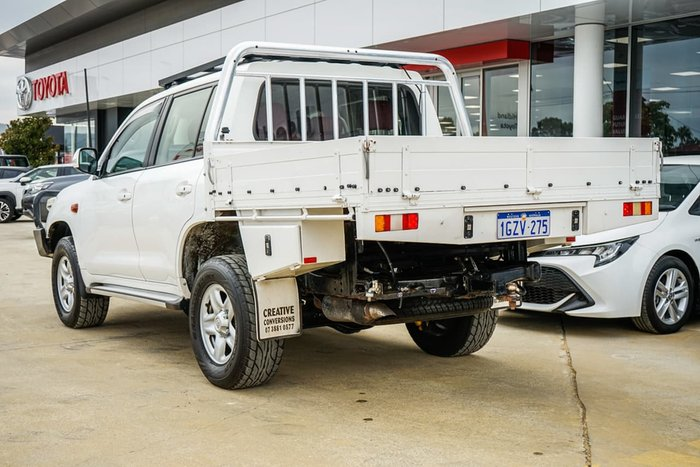 2012 Toyota Landcruiser GXL VDJ200R MY10 4X4 Constant White
