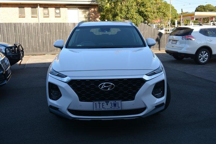 2019 Hyundai Santa Fe Elite TM.2 MY20 White Cream