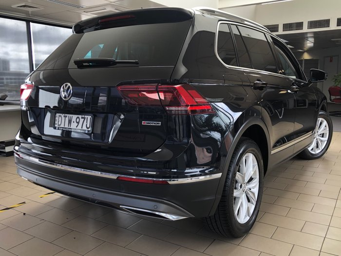 2018 Volkswagen Tiguan 162TSI Highline 5N MY18 Four Wheel Drive Deep Black