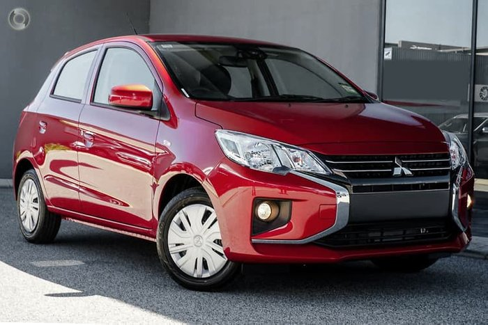 2021 Mitsubishi Mirage ES LB MY21 Red Planet