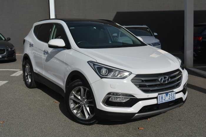 2016 Hyundai Santa Fe Highlander DM3 Series II MY17 4X4 On Demand Pure White