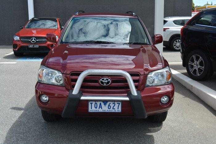 2004 Toyota Kluger CVX MCU28R Four Wheel Drive Merlot Red