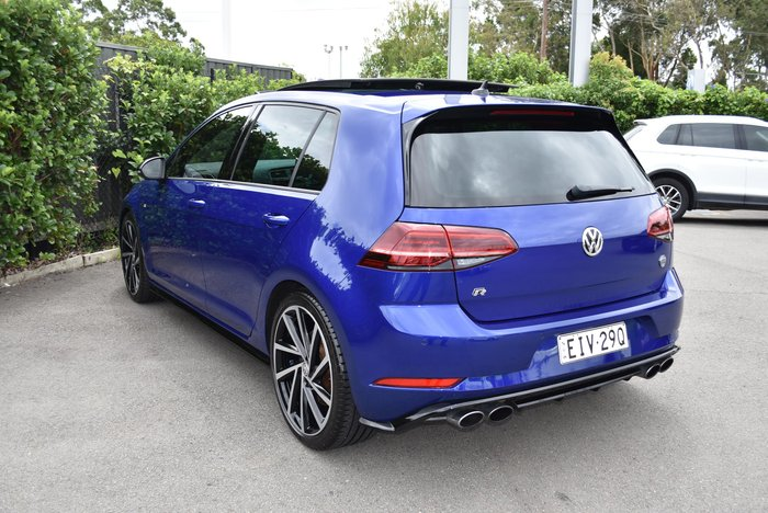 2017 Volkswagen Golf R Grid Edition 7.5 MY18 Four Wheel Drive Lapiz Blue